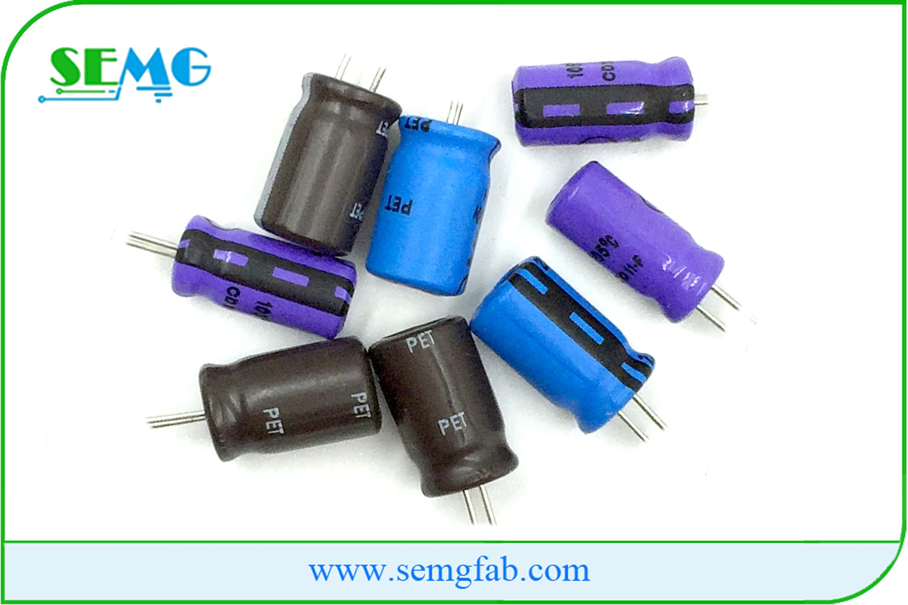 High quality electrolytic capacitor 100uf 25v